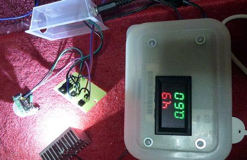 HC-SR501(改) テスト中.JPG